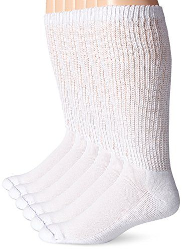 aab87aa478 Dr. Scholl's Men's 6 Pack Over-The-Calf Diabetic Socks, White, Shoe: 7-12  -- Read more reviews of the product by visiting the link on the image.