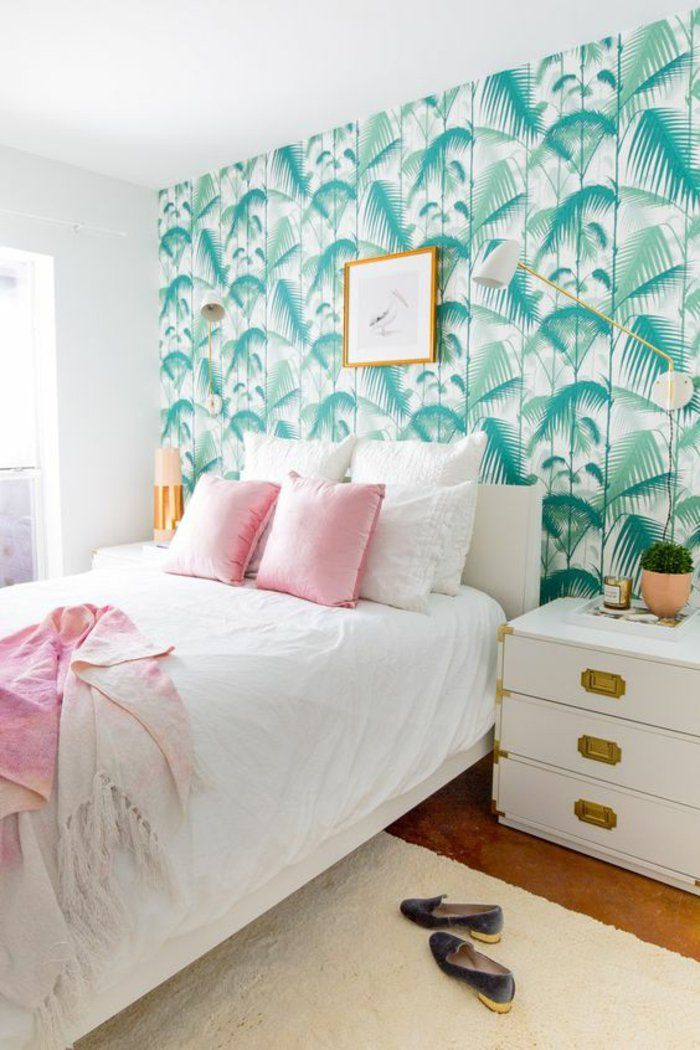 ▷ 1001+ modèles de papier peint tropical et exotique Bedrooms - modele chambre a coucher