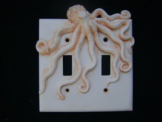 Octopus Double Light Switch Cover  Wall Decor Decorative