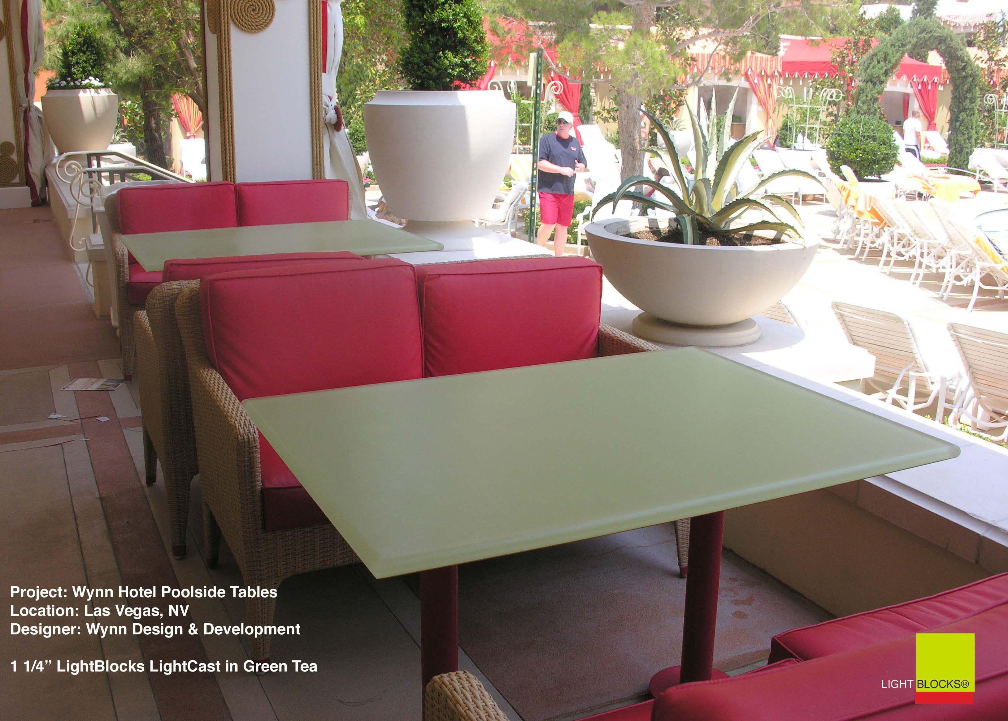 Lightblocks Table. Acrylic Tabletops, Custom Or Standard Color , Green Tea