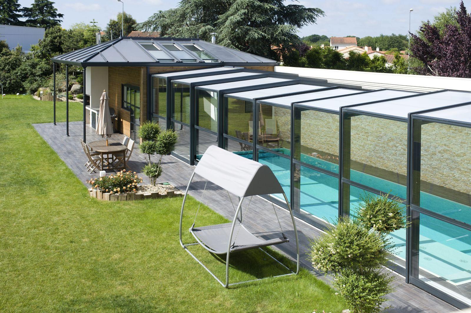 Extension Maison Piscine Couverte piscine dans verrière | piscine intérieure, abri piscine