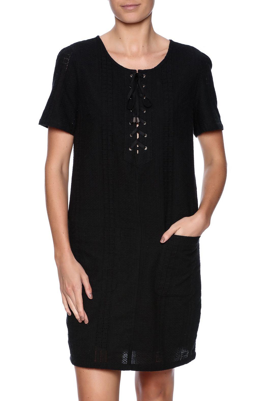 Kut from the kloth cotton eyelet dress black sleeved dresses