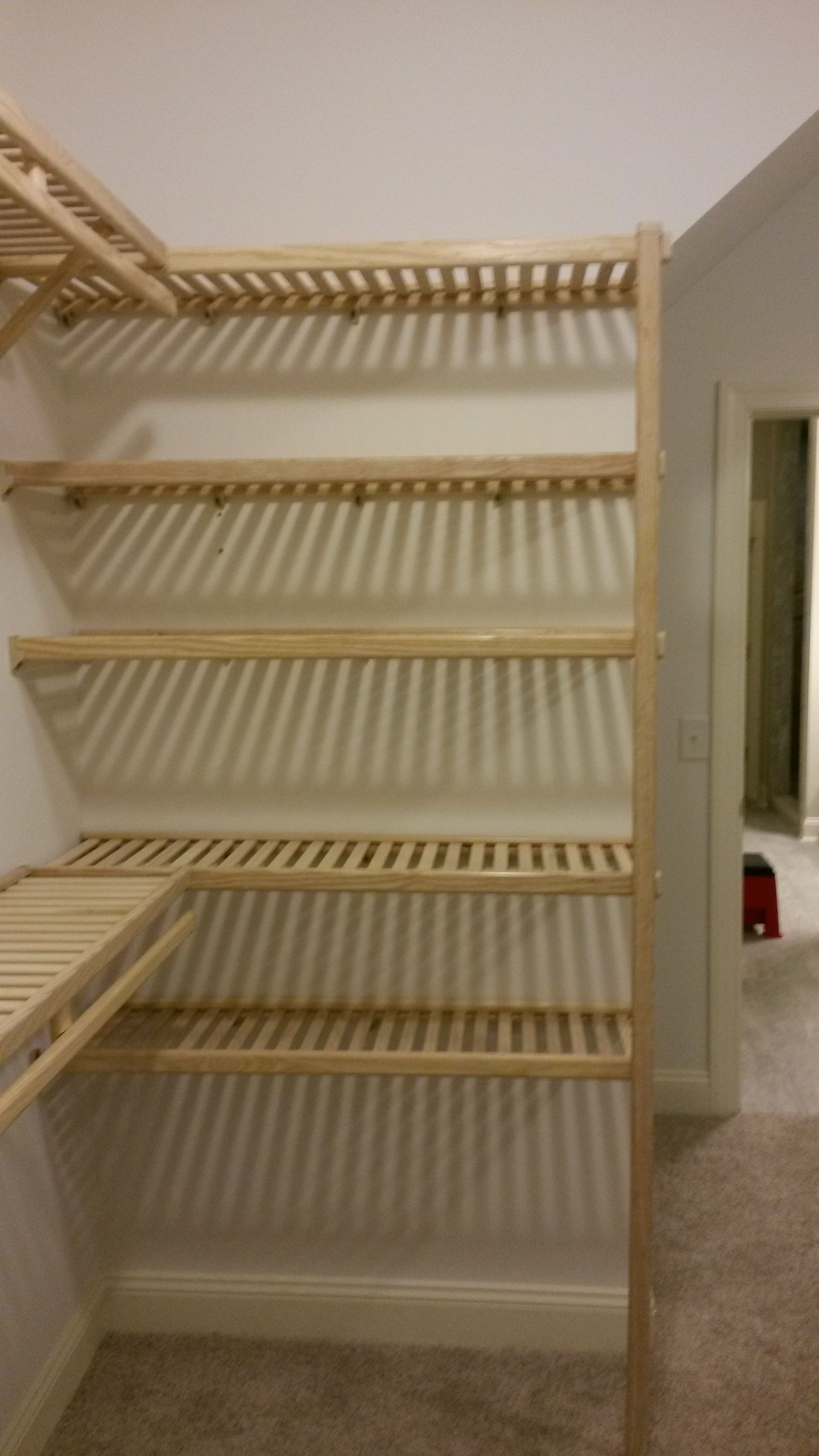 Tired Of The One Wire Rack Shelving System In Your Walkin Closet Our Ventilated Wood Is Awesome And Versatile