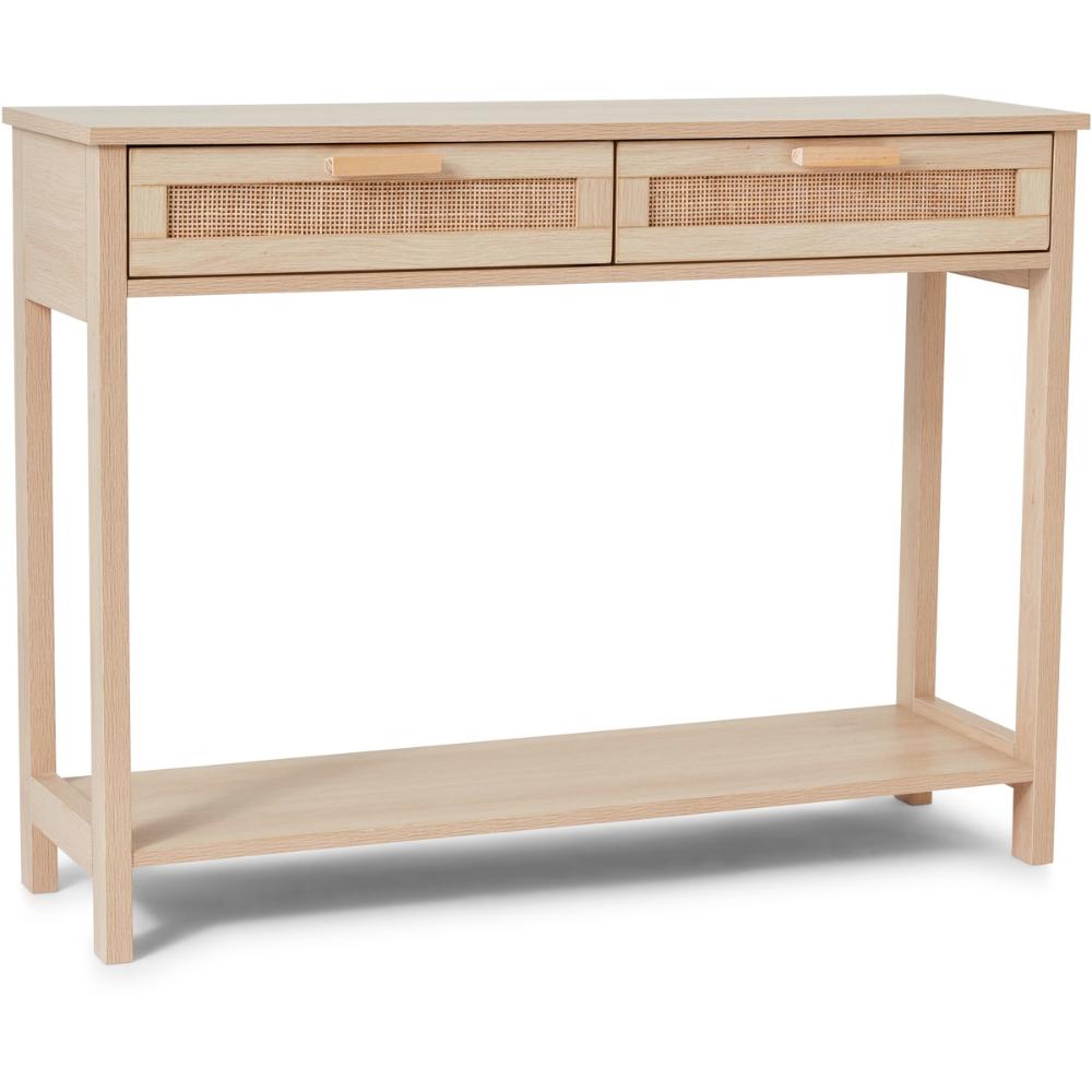 Kodu Hamilton Rattan Console Table In 2020 Console Table Rattan Open Shelving