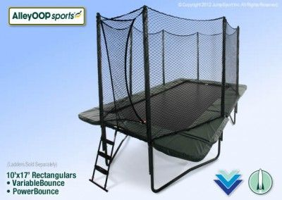 AlleyOOP Rectangle Trampoline-- super safe, high-quality- high performance springs