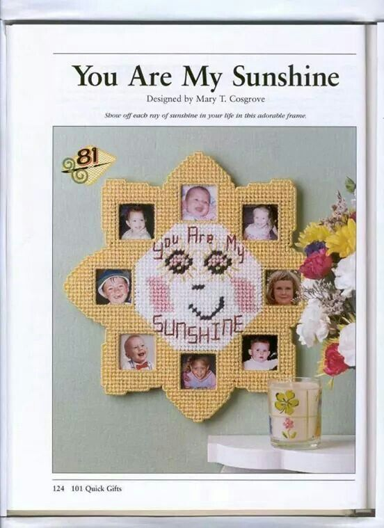 You Are My Sunshine Picture Frame Plastic Canvas Pinterest
