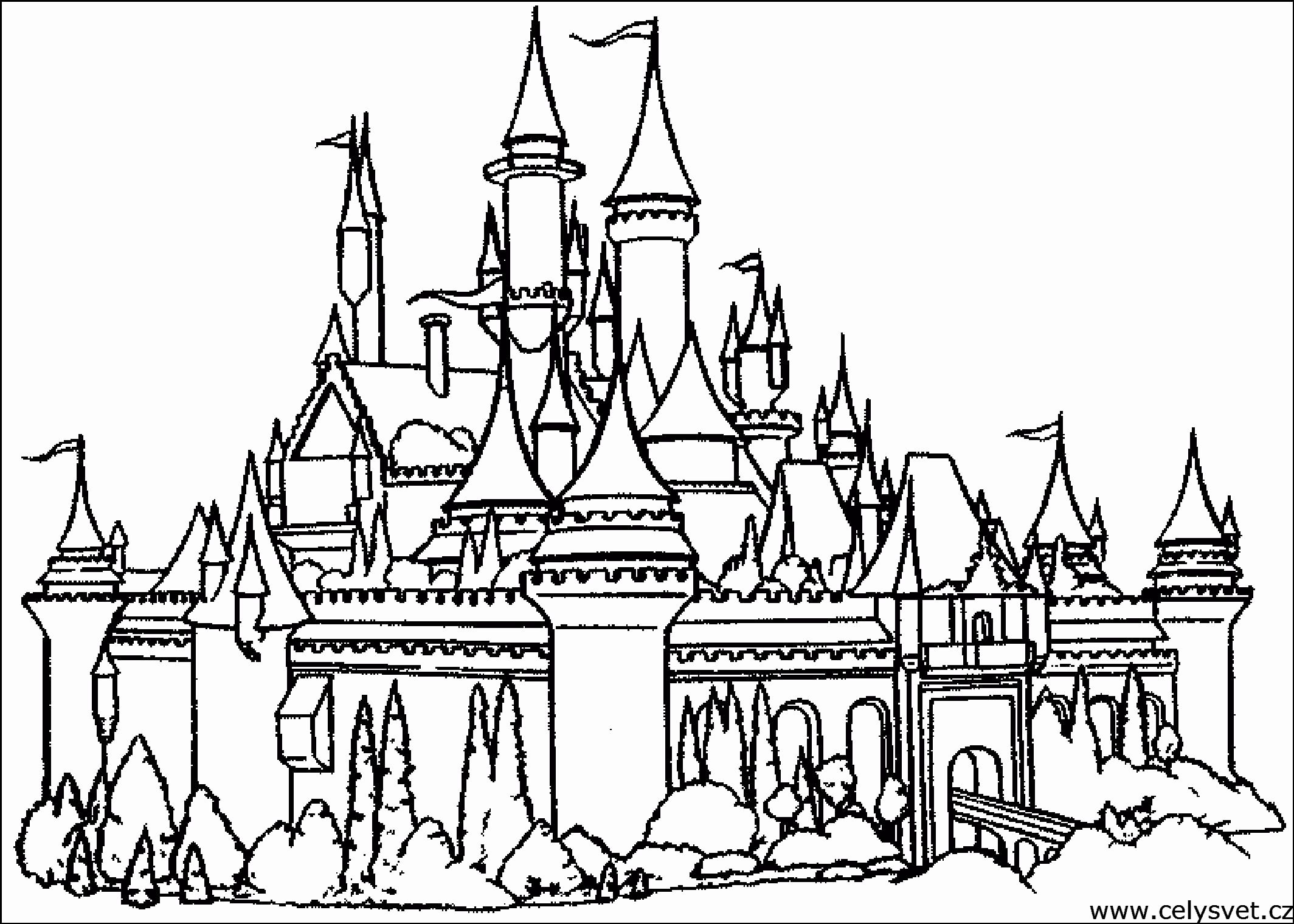 Disney Castle Coloring Pages Lovely Disney Castle Coloring Pages Printable Coloring Home Castle Coloring Page Coloring Pages Castle Pictures