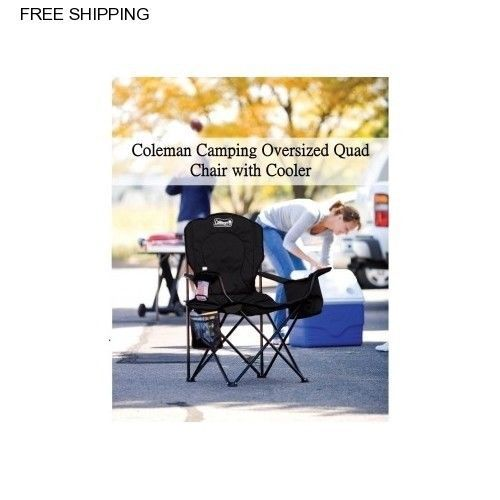 Coleman Oversized Quad Chair with Cooler Black. C&ing ChairsCup HoldersCoolersCupsOutdoor. Extra Large ...  sc 1 st  Pinterest & Coleman Oversized Quad Chair with Cooler Black | Chairs Camping and ...