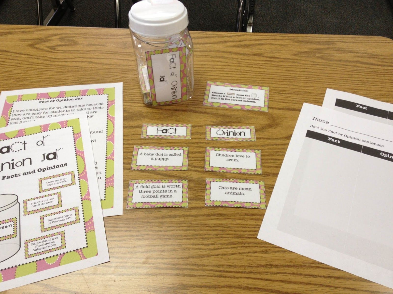 Fact And Opinion Sort For Workstations