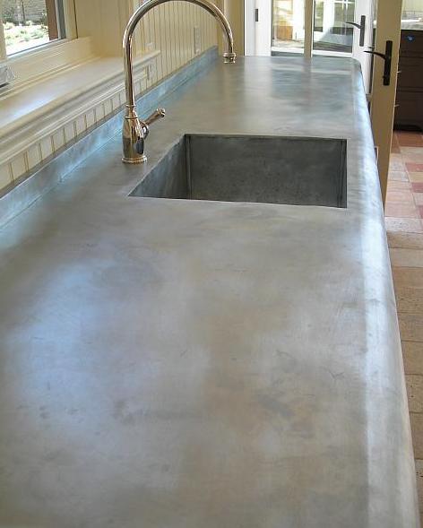 Countertops Made Using Zinc Zinc Countertops Outdoor Kitchen Countertops Kitchen Benchtops