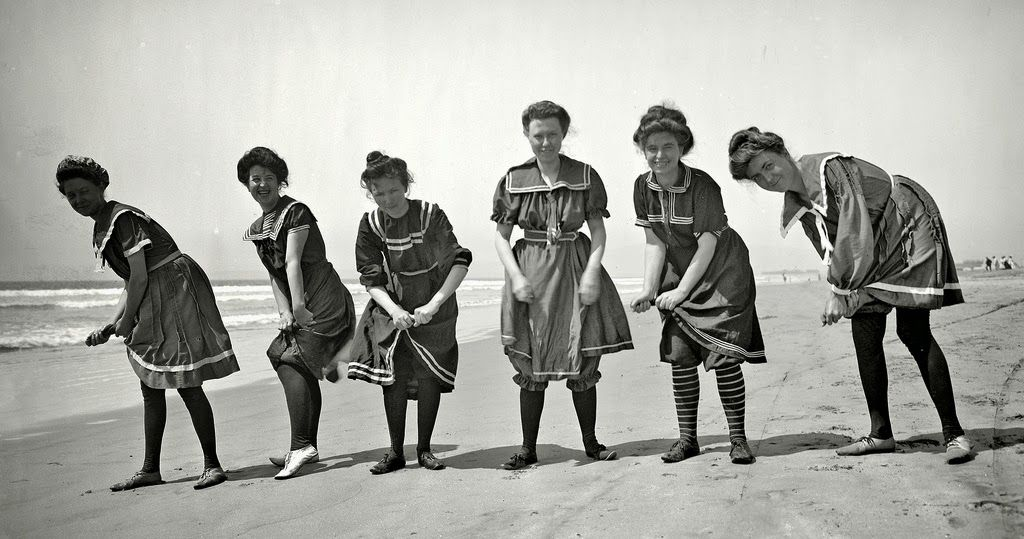 tous les jours millésime: 30 Photos intéressants de styles Maillots de bain à l'époque victorienne