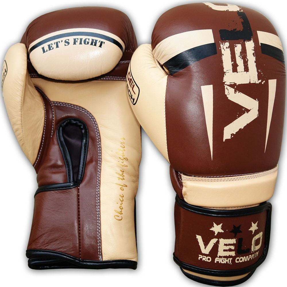 VELO Boxing Gloves Bag Training Sparring Punch Muay Thai Fight Kickboxing