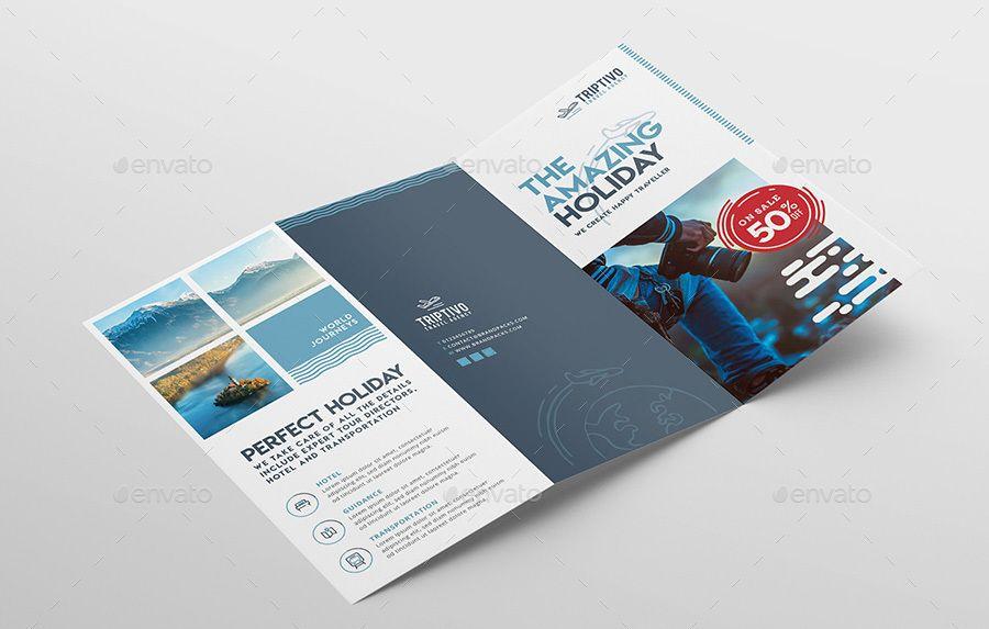 Travel Company Tri-Fold Brochure Template Corporate Travel