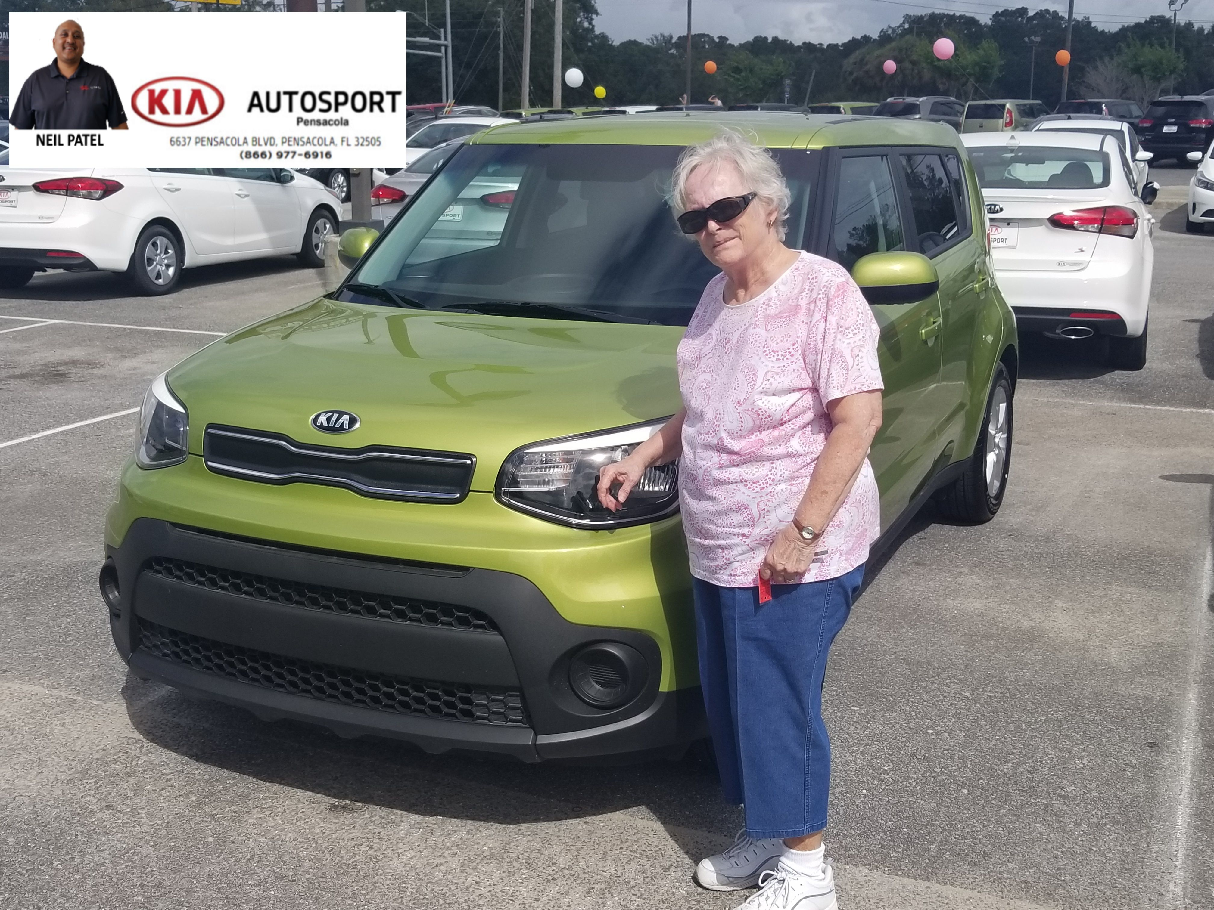 A HUGE THANK YOU Goes Out To Ms. Juanita Donaldson On The Purchase Of Her  BRAND NEW 2017 KIA Soul From Neil Patel And KIA AutoSport Of Pensacola!!