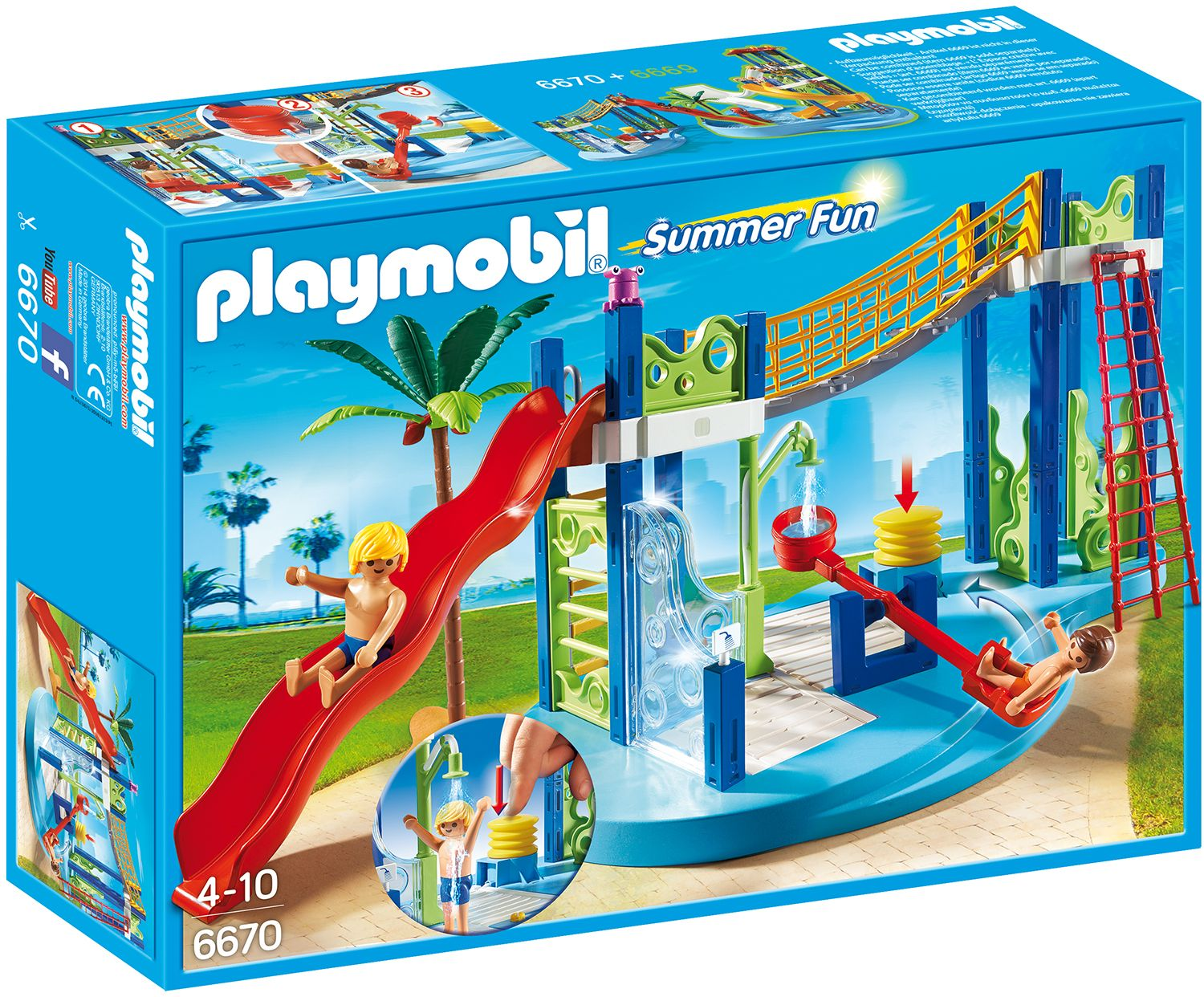 Playmobil 6670 Summer Fun Water Park Play Area: Playmobil   Water Park With  Slide.