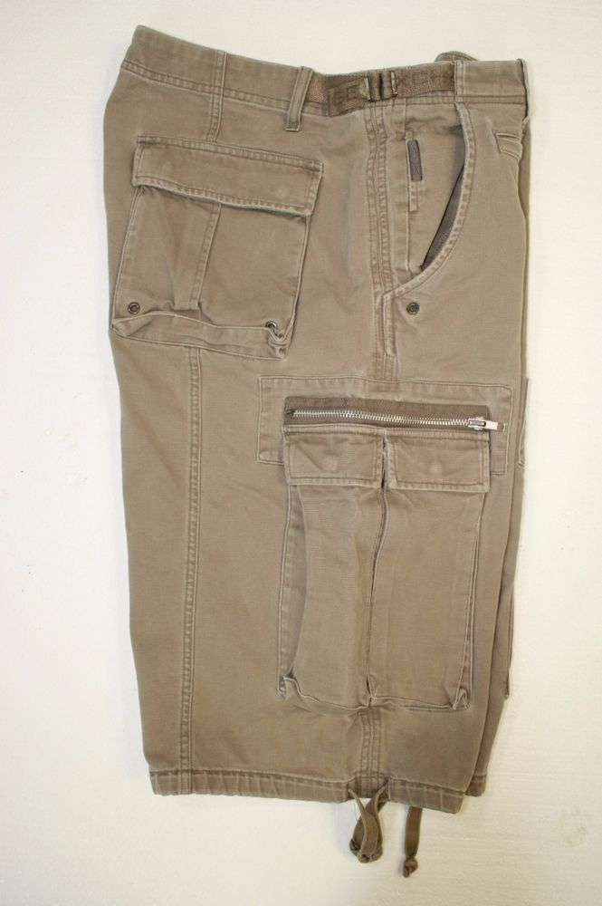 Armani Exchange AX Grayed Out Green Cargo Shorts (Mens 34) 2305 ...