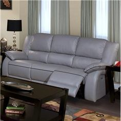 Picture Of Browning Bluff Light Gray Leather Reclining Sofa From Leather Sofas  Furniture | Ash Furniture Options | Pinterest | Leather Reclining Sofa, ...