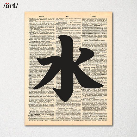 Kanji Water Symbol Japanese Writing On Dictionary Page