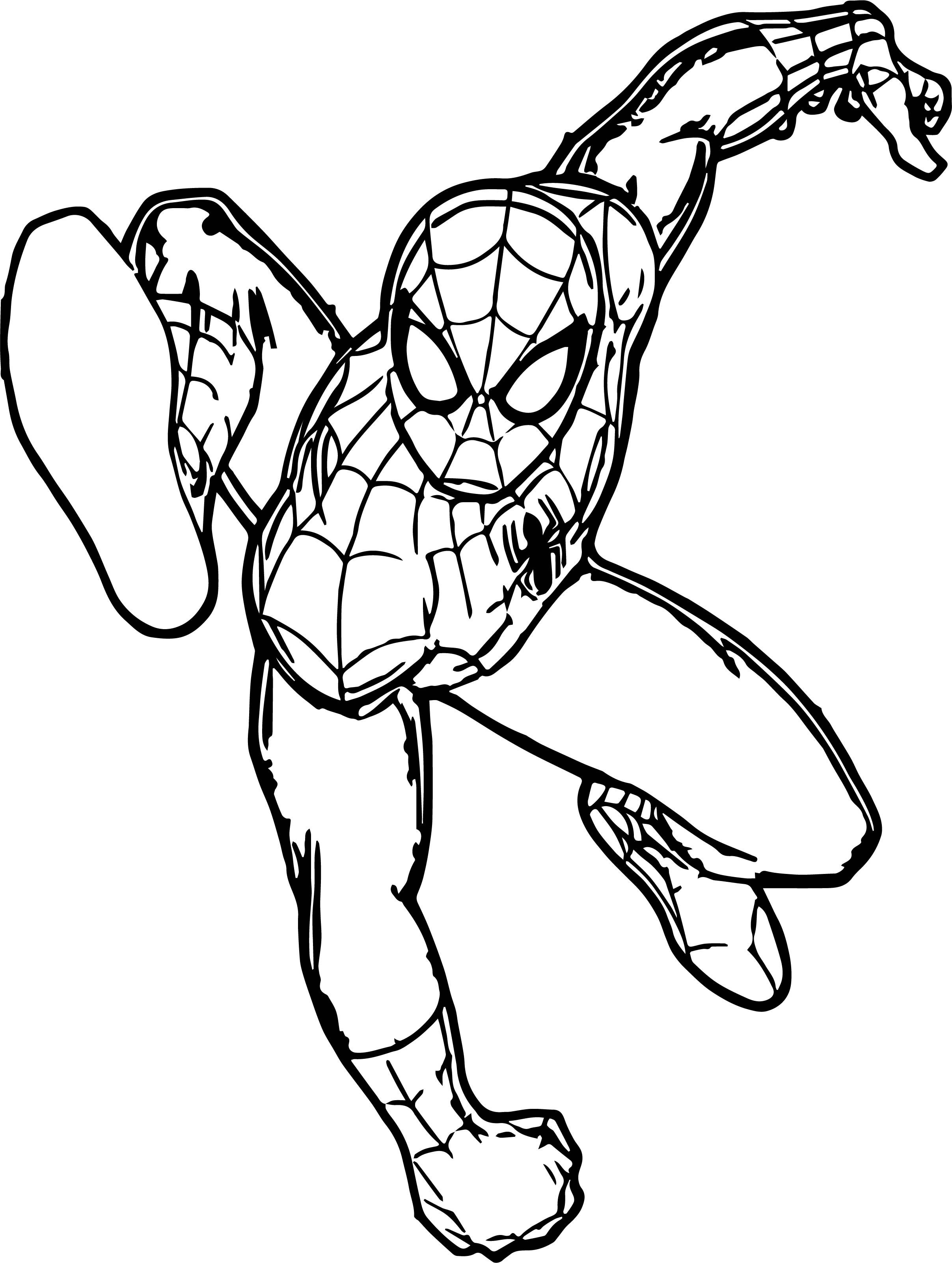 Nice Spiderman Leap Spider Man Coloring Page Dinosaur Coloring Pages Coloring Pages Snowman Coloring Pages