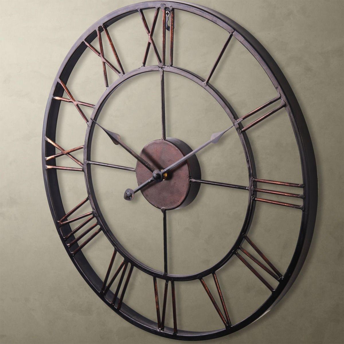 Metal Wall Clock Artes Em Ferro Rosa Dos Ventos Ideias