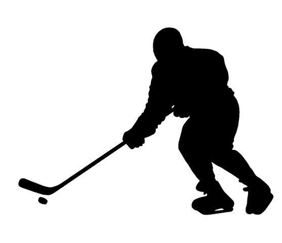 Hockey Player Silhouette Decal Sticker Hockey Players Hockey Silhouette
