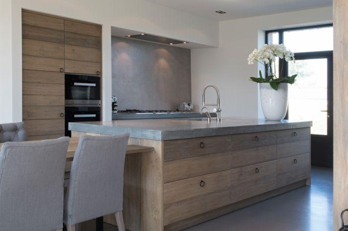 beton als küchengestaltung Küche Möbel - Küchen - Kücheninsel - k chenarbeitsplatten aus beton