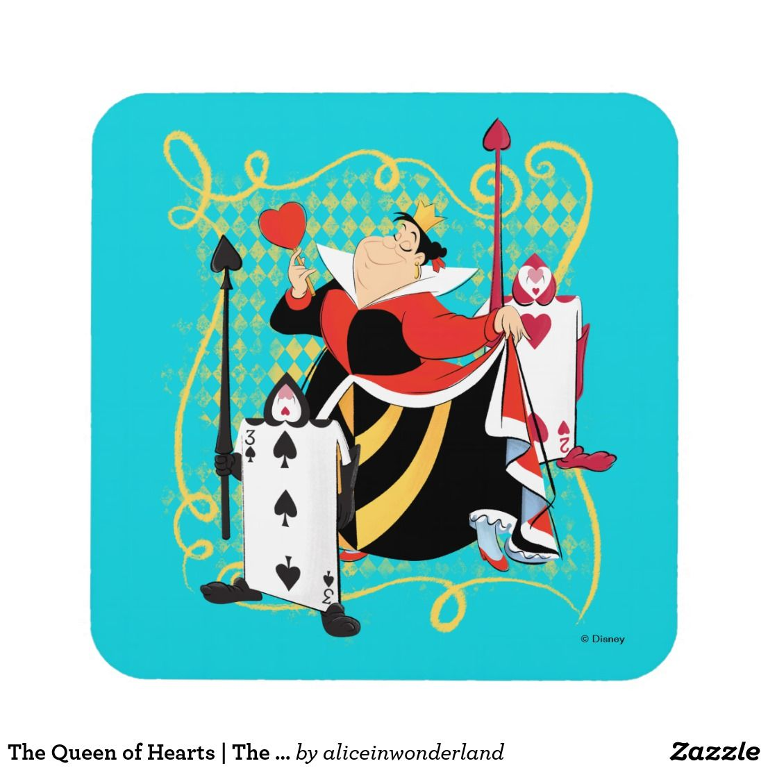 The Queen Of Hearts The Queen S Card Soldiers Beverage Coaster