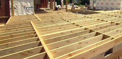 Find out the minimum size floor joists you need for for Wood floor joist construction