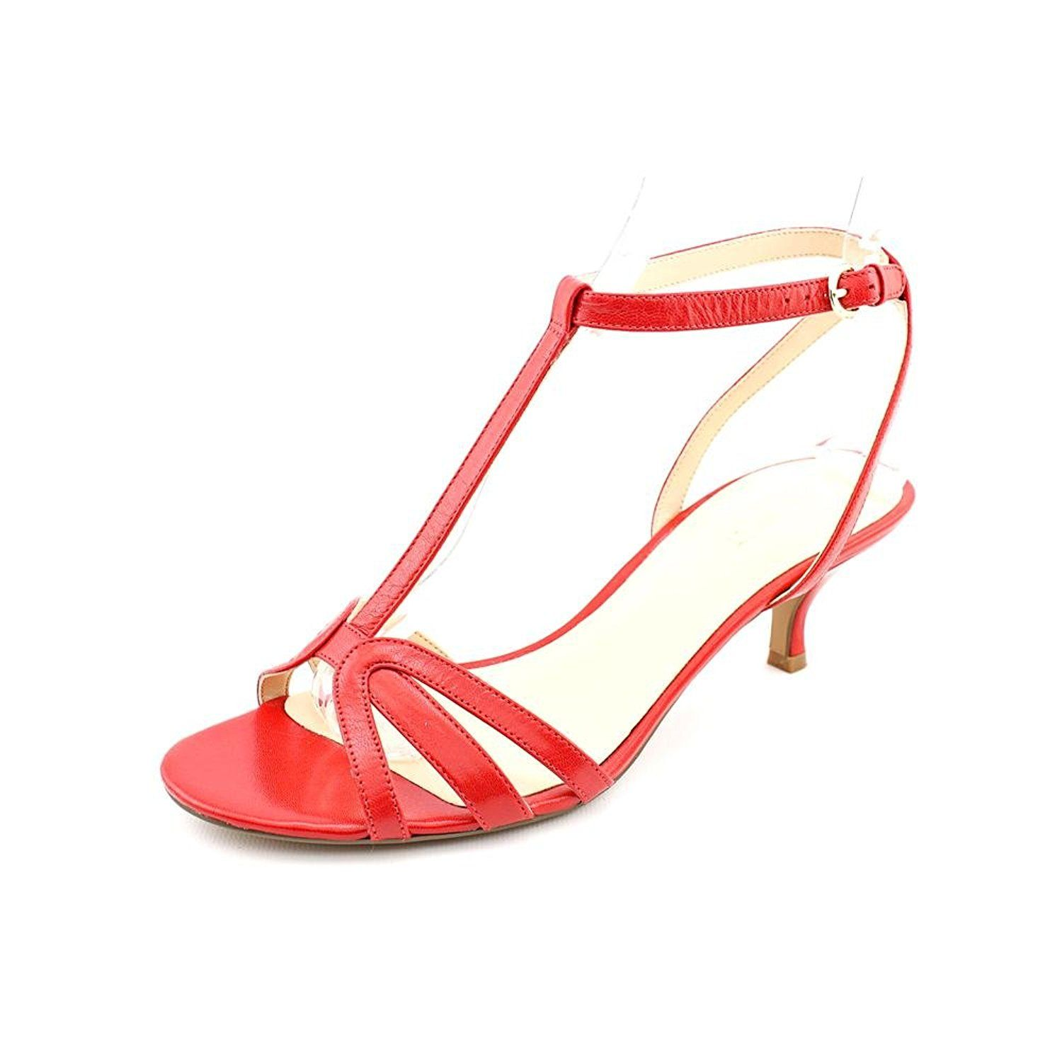 04220cc66ea Nine West Odarlin Red Leather Strappy Kitten Heel Sandal Woman Size 11M      New and awesome outdoor gear awaits you