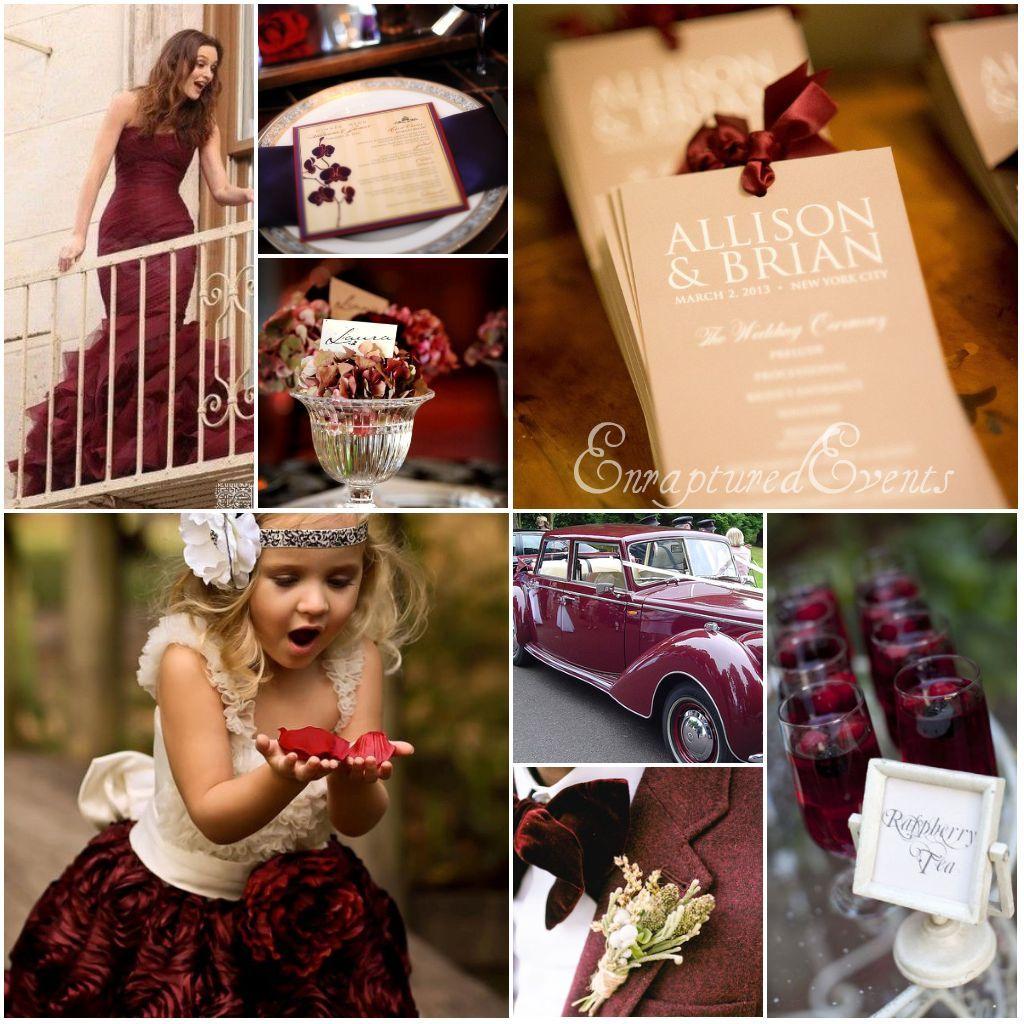Cranberry champagne wedding - Fall Wedding Inspiration Burgundy And Hues Of Gold Munaluchi Bridal Magazine By Enraptured