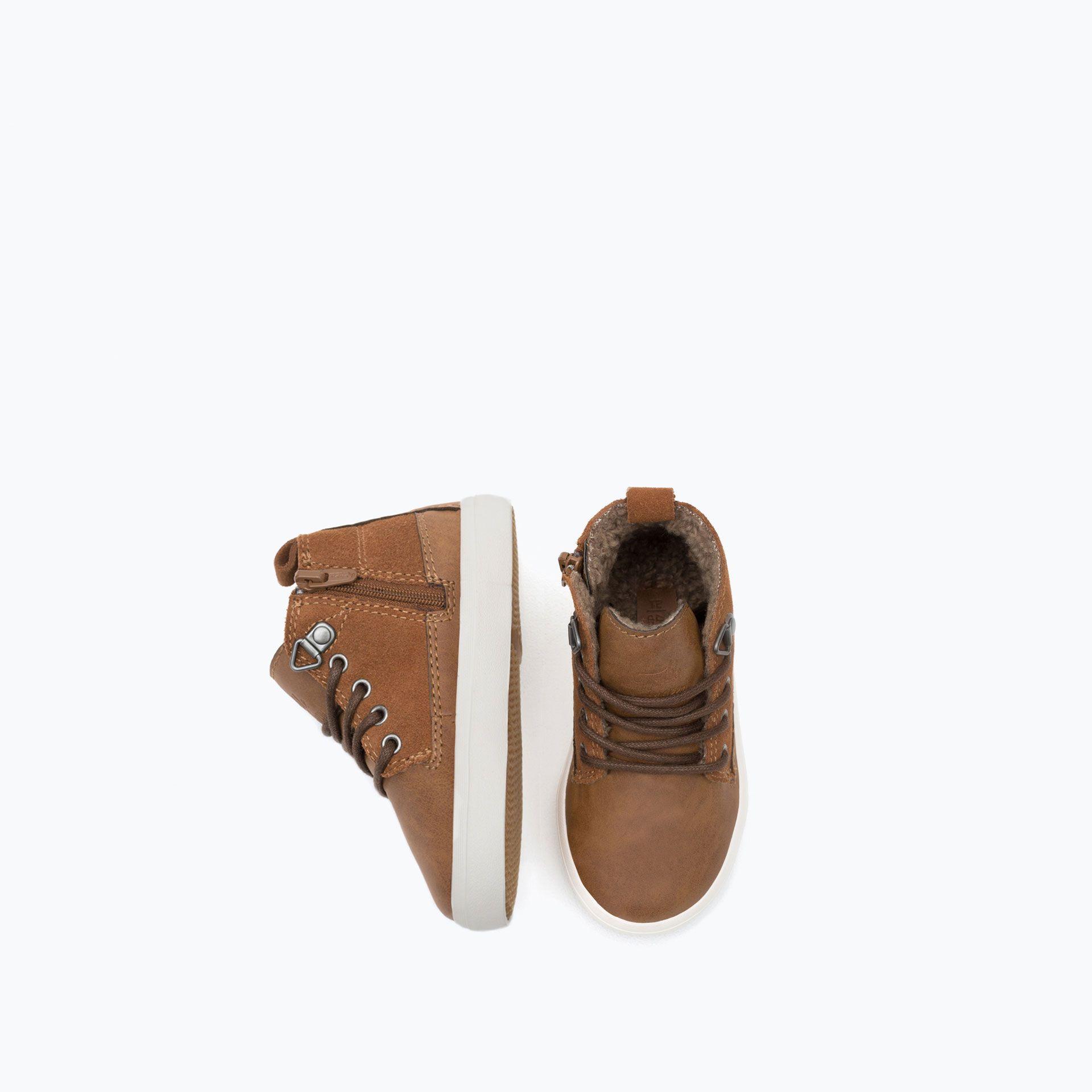 Trzewiki Z Ozdobna Wysciolka Z Dwoiny Niemowle Chlopiec Nowosci Baby Shoes Zara Shoes