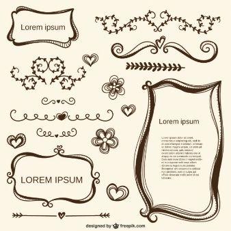 Caligr ficos adornos amor y marcos estencil y marcos for Scritte vintage
