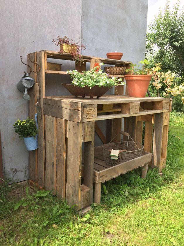 pflanztisch aus paletten, ein pflanztisch, gebaut aus euro-paletten, neu und ungenutzt. h 1,23, Design ideen