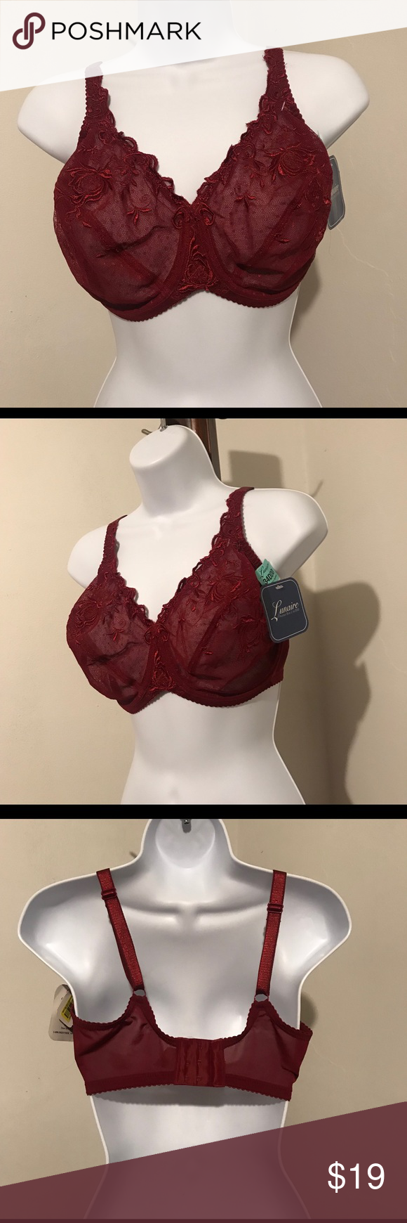 b77407a801a72 Lunaire prettier Bras NWT 34DDD ( see pictures more details) Color dark  maroon lunaire Intimates   Sleepwear Bras