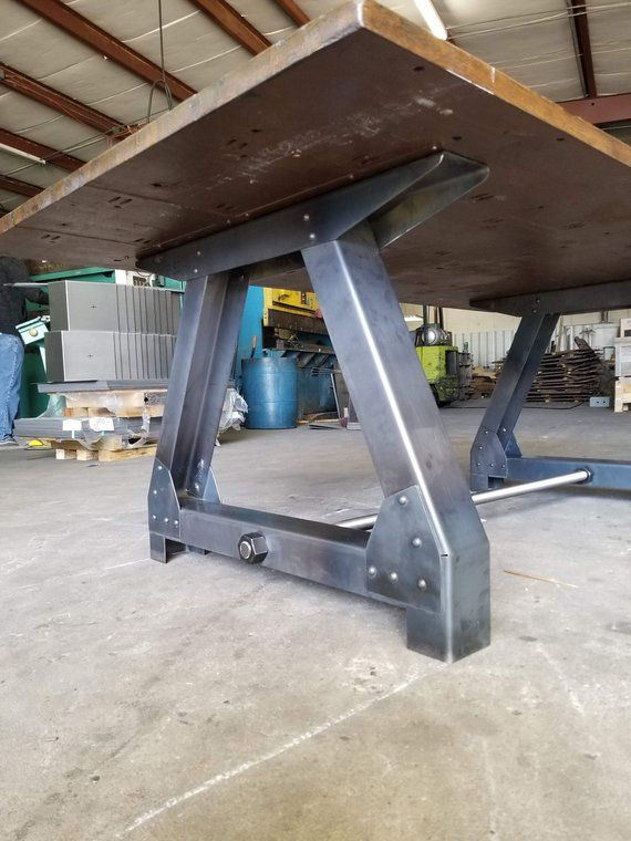 Bases de table en acier industriel / Meubles récupérés / Base | Etsy