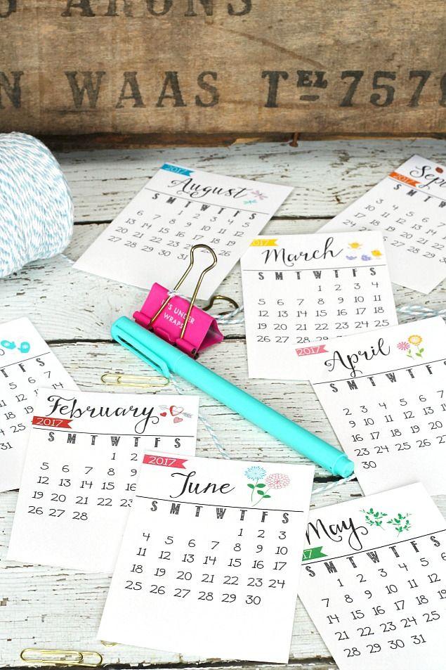 Free Printable 2017 Calendar Free printable, Free printable