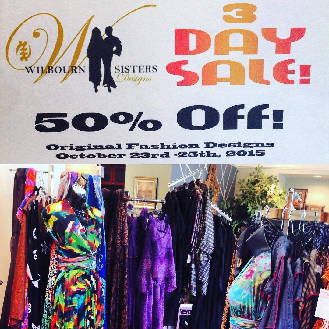 3-Day SALE! Now through October 25th for the Wilbourn Sisters Boutique. Come save on exclusive styles and designs 25-50% off! Only here at MarketPlace 120! #sale #savings #shopping #fashion #marketplace120