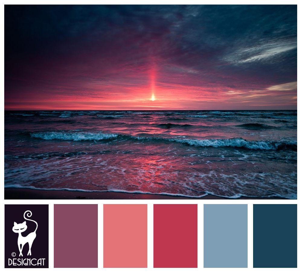Teal, Blue, Pastel, Pink, Dusky, Purple