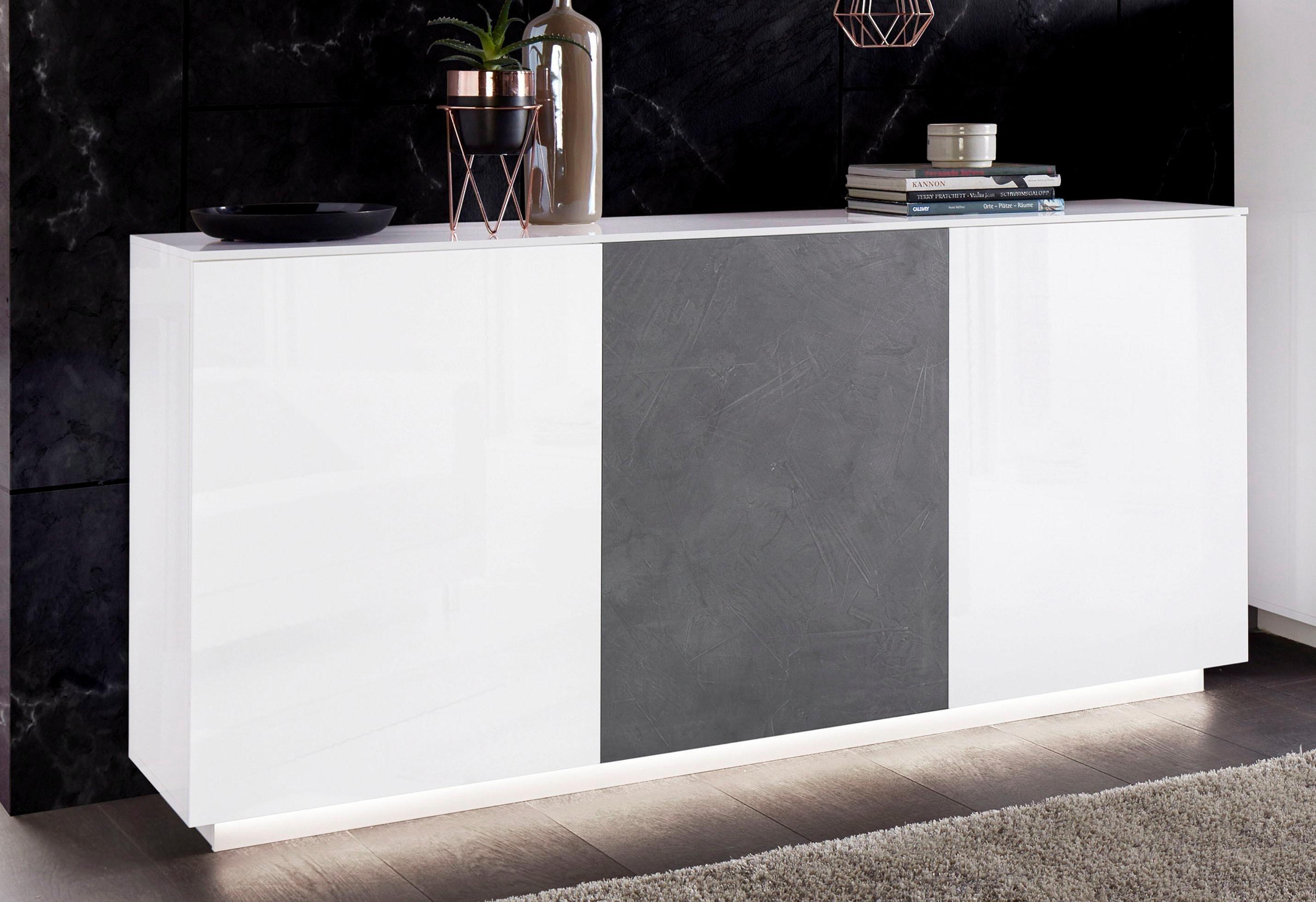 Sideboard Weiß Matt 180 Cm Breit
