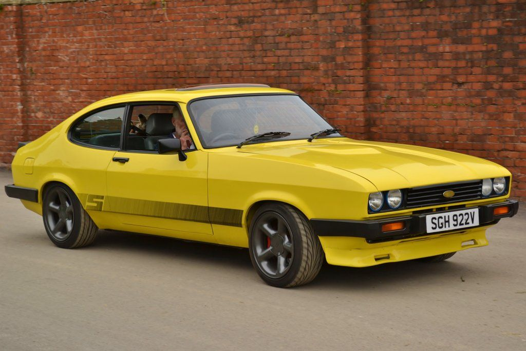 1980 Yellow Ford Capri Auto Ford Carros