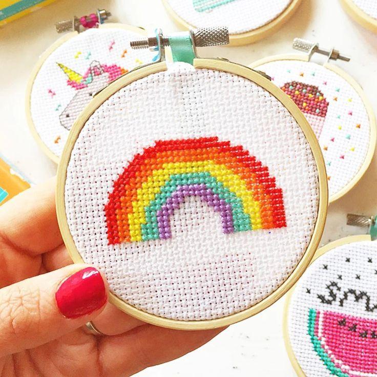 Photo of 'Over the Rainbow' Mini Cross Stitch Kit