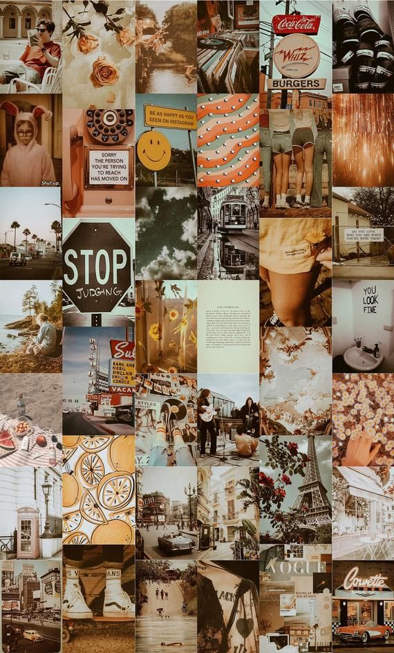 Dreamy Vintage Wall Collage Kit, Boho Aesthetic Wall Collage, VSCO Aesthetic Collage, Printable Wall Collage Set (40 Pcs Digital Download)