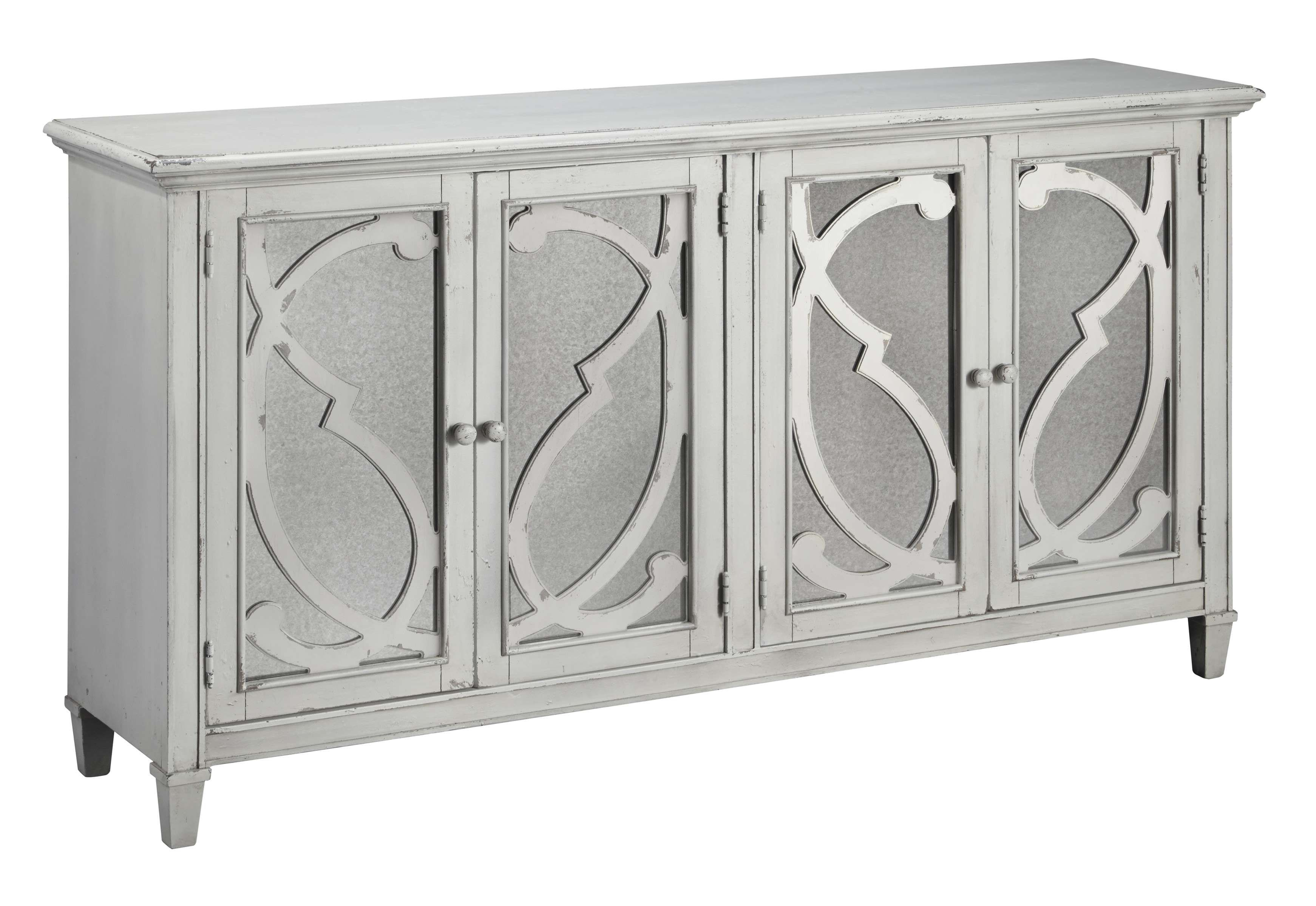 Signature Design By Ashley Mirimyn Gray Accent Cabinet T505 562 Goedekers Com Accent Cabinet Accent Doors Ashley Furniture Outlet