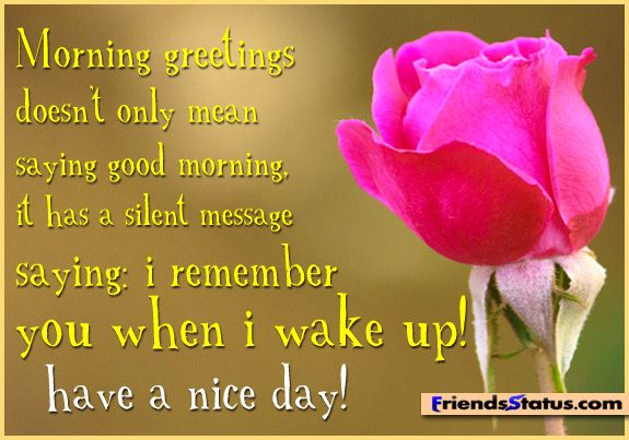 Good Morning Beautiful Message To Her : Good morning status friends part