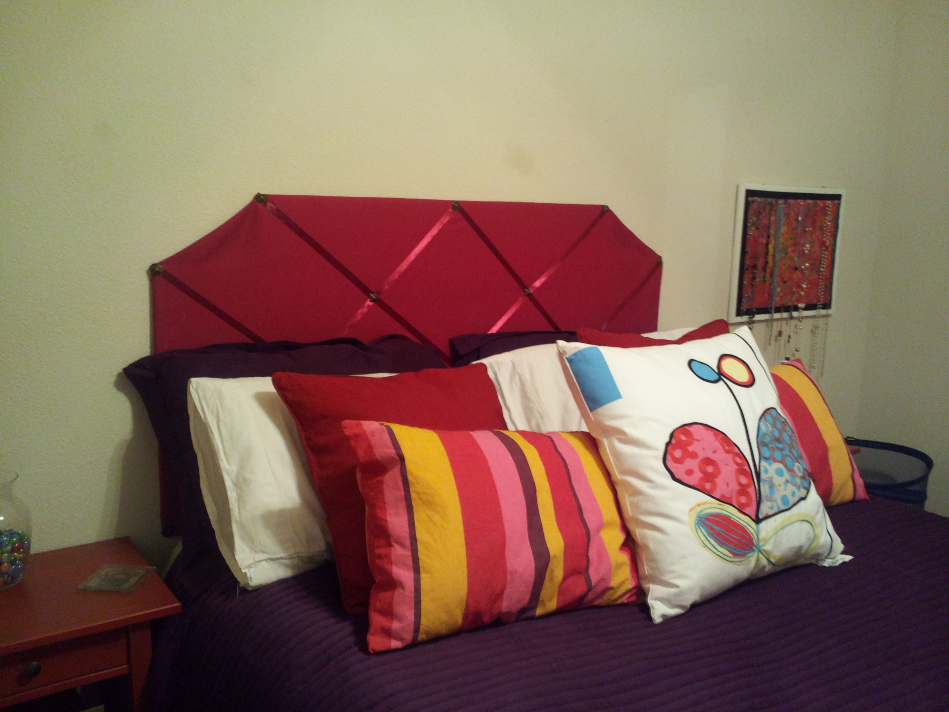 Made my own bed headboard materials cardboard quilting batting