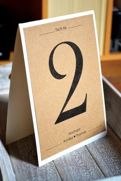 Hochzeitsdeko tischnummern vintage kraftpapier creme for Hochzeitsdeko creme