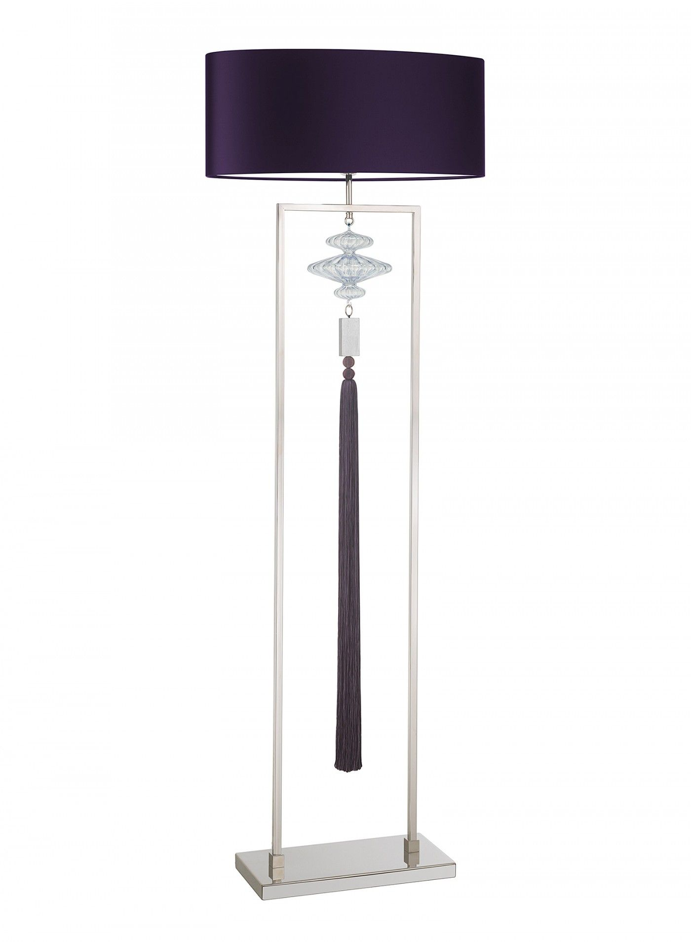 A simple yet decorative floor lamp in a nickel finish with blown a simple yet decorative floor lamp in a nickel finish with blown lustre glass detail and aloadofball Choice Image