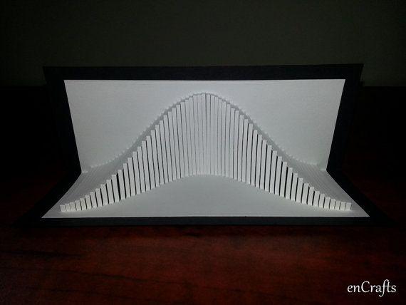 Eiger Origamic Architecture Pop Up Card Par Encrafts Sur Etsy Paper Architecture Folding Architecture Origami Paper Art