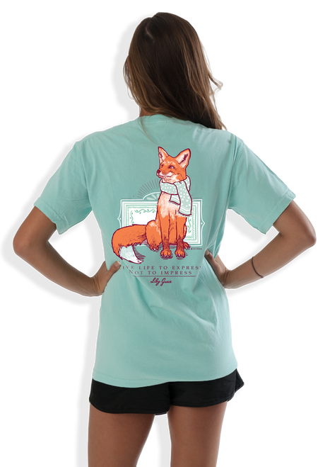 Adorable fox tee with words of wisdom!