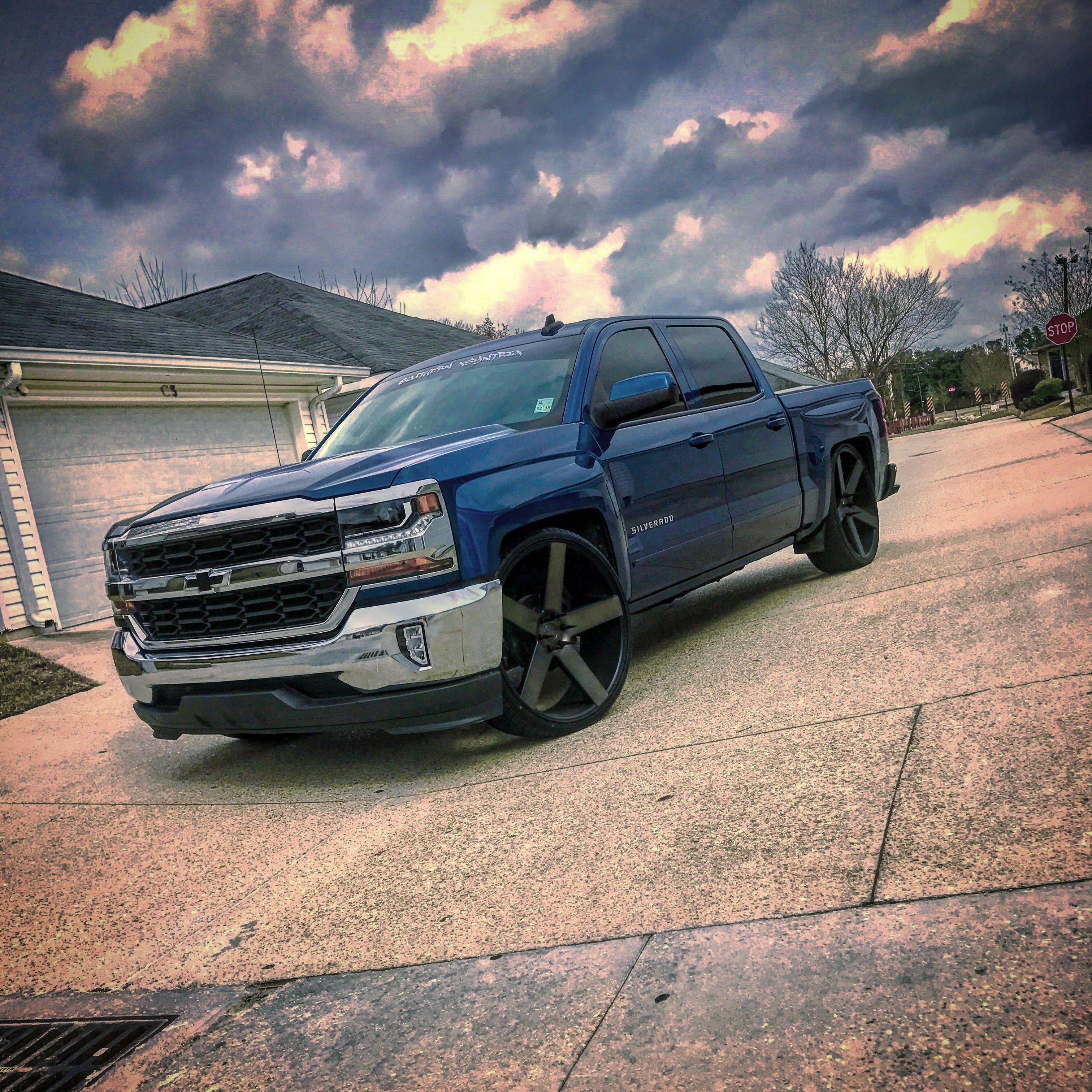 2016 Chevy Silverado On 28s Diesel Trucks Chevy Trucks Chevrolet Silverado